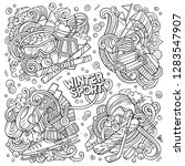 sketchy vector hand drawn...   Shutterstock .eps vector #1283547907