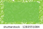 green background with... | Shutterstock .eps vector #1283551084