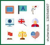 9 government icon. vector... | Shutterstock .eps vector #1283568007