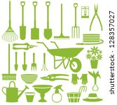 gardening related icons 1 | Shutterstock .eps vector #128357027