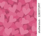 step color of pink hearts...   Shutterstock .eps vector #1283571997