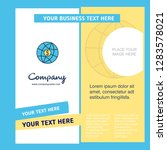 globe company brochure template.... | Shutterstock .eps vector #1283578021