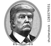 january 14  2019. donald trump. ... | Shutterstock .eps vector #1283579551