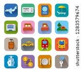 set of travel concept flat... | Shutterstock .eps vector #1283579674