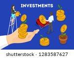 money investment concept banner.... | Shutterstock .eps vector #1283587627