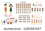 school boy and girl character... | Shutterstock .eps vector #1283587657