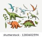 dinosaurs species set. jurassic ...   Shutterstock .eps vector #1283602594