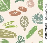 seamless pattern of various... | Shutterstock .eps vector #1283602711