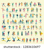 vector illustration in a flat... | Shutterstock .eps vector #1283610697
