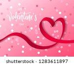 happy valentine's day hand... | Shutterstock .eps vector #1283611897