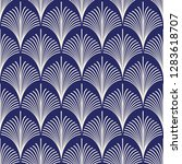 seamless porcelain indigo blue... | Shutterstock .eps vector #1283618707