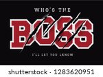 who's the boss slogan with claw ... | Shutterstock .eps vector #1283620951