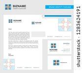 giftbox business letterhead ... | Shutterstock .eps vector #1283624191