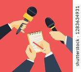 journalist concept. hand... | Shutterstock .eps vector #1283634931