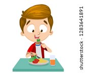 cartoon young boy having... | Shutterstock .eps vector #1283641891