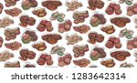 seamless pattern with contour... | Shutterstock .eps vector #1283642314