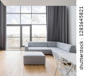 contemporary apartment with... | Shutterstock . vector #1283645821
