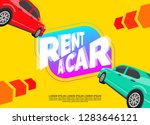 rent a car creative banner... | Shutterstock .eps vector #1283646121
