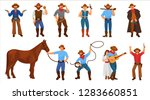 set of character cowboy sheriff ... | Shutterstock .eps vector #1283660851