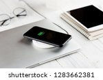 phone charging on wireless...   Shutterstock . vector #1283662381