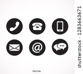 communication icons in the... | Shutterstock .eps vector #1283663671