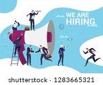 concept flat illustration. work ... | Shutterstock .eps vector #1283665321