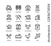 farm and agriculture line icon... | Shutterstock .eps vector #1283673034