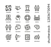 collaboration line icon set | Shutterstock .eps vector #1283673094