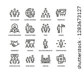 business people line icon set | Shutterstock .eps vector #1283673127