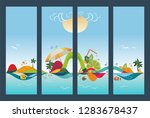 set of travel banners  tropical ... | Shutterstock .eps vector #1283678437
