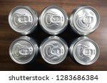 cans of sweet drinks  or beer ... | Shutterstock . vector #1283686384