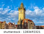 old town hall tower ... | Shutterstock . vector #1283692321