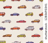 seamless pattern with... | Shutterstock .eps vector #1283693341