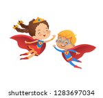 superhero children friend... | Shutterstock .eps vector #1283697034
