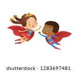 superhero friend character... | Shutterstock .eps vector #1283697481