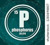 phosphorus chemical element.... | Shutterstock .eps vector #1283698807