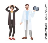 angry male doctor physician... | Shutterstock .eps vector #1283700694