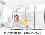 furious mid adult businessman...   Shutterstock . vector #1283707687