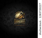 vector emblem with golden lion  ... | Shutterstock .eps vector #1283720227