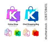 letter k logotype colorful on... | Shutterstock .eps vector #1283728651