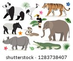 set of cute wild animals and...   Shutterstock .eps vector #1283738407