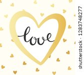 gold greeting card for... | Shutterstock .eps vector #1283748277