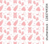 seamless pattern with goods for ... | Shutterstock .eps vector #1283749354