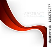 red curve line vector... | Shutterstock .eps vector #1283752777