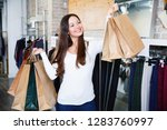 young  cheerful positive  woman ... | Shutterstock . vector #1283760997