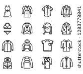 fashion cloth vector icon set | Shutterstock .eps vector #1283778841