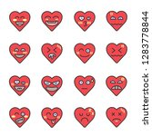heart face emoji vector icon... | Shutterstock .eps vector #1283778844