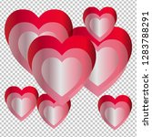 valentine's day. colorful... | Shutterstock .eps vector #1283788291