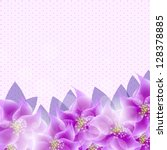 stylish floral background...   Shutterstock .eps vector #128378885