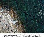 top view beach coastal strip ... | Shutterstock . vector #1283793631